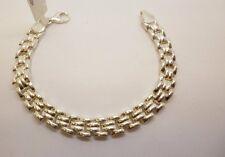 Esta es una hermosa pulsera de enlace de ladrillo de plata esterlina