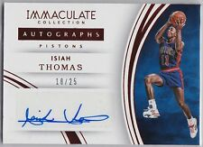 2015-16 Panini Immaculate Collection Isiah Thomas RED AUTO /25 Autograph