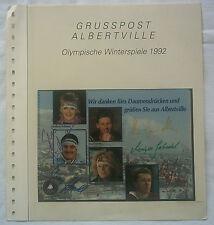5 Orig.Autogramme Deutscher Sportler   Olympische W.Spiele ALBERTVILLE 1992 A !!