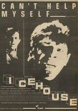 17/10/81PGN20 ADVERT: CANT HELP MYSELF THE NEW SINGLE FROM ICEHOUSE 7X5