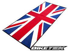 UNION JACK FLAG MOTORCYCLE GARAGE MAT WORKSHOP NON-SLIP BACKING TEAM GB PIT MAT