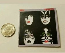 Miniature record albums Barbie Gi Joe  action Figure size Kiss band Playscale B