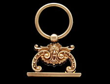 Antique 14K Gold Onyx Fob Seal Baroque Gothic with Grotesque Face