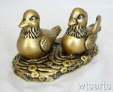 Pair Mandarin Duck (Imitation Bronze) Feng Shui Love Charm