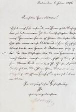 1896 Althoff Friedrich signierter handschriftlicher Brief eines Sekretärs