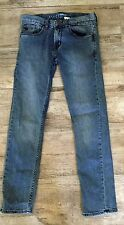 Quicksilver Boys Youth 27 14 Blue Jeans Pants Skinny Fit