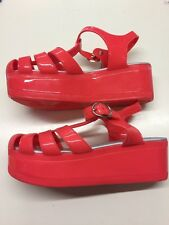 Women's Ladies Chunky Platform Wedge Jelly Gladiator Beach Sandals Rrp £12 Uk 5