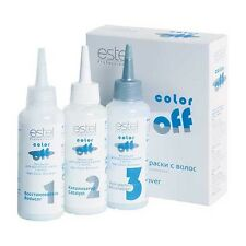 COLOR OFF Emulsion paint removal from the hair 3 * 120 ml  *Estel*