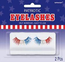 4 th of July Red White Blue Patriotic False Eyelashes Self Adhesive