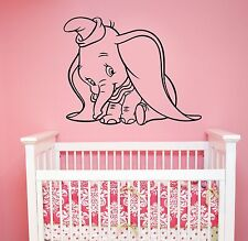 Dumbo Decal Disney Wall Sticker Cartoon Vinyl Art Kids Room Nursery Decor dumb5