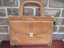 Vintage Phillippe Small Leather Portfolio Attache Briefcase Tablet Case Zip Top