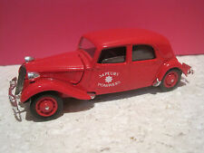 SOLIDO SUPERBE VEHICULE POMPIERS CITROEN TRACTION 15 SIX 1939 1/43