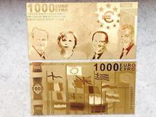 1000 € Euro Gold Banknote - 24 Karat .999 Gold Geldschein NEU Goldschein *selten
