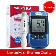 New Blood Glucose Monitor Intelligence Meter Glucometer 50 Strips & Lancets Case