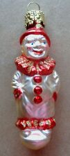 VINTAGE GERMAN MERCURY GLASS  CLOWN  XMAS ORNAMENT
