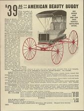 Original 1907 Sears Roebuck AMERICAN BEAUTY BUGGY Carriage Advertising Flyer