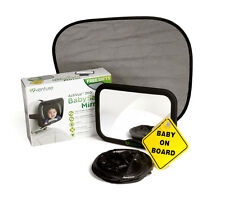 Baby Car Mirror | Large Adjustable | Baby Safety Mirror | Clear Wide View