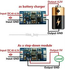 dc buck charging module DC 6.5-40V 12v 24v to 4.2V 5v Lithium Battery Charger