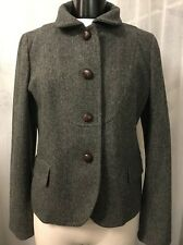 J.Crew Gray Textured Fully Lined Women's Coat Jacket Size 6 Nice!