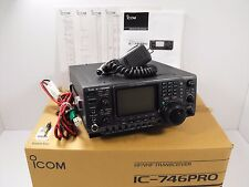 Icom IC-746PRO 160 - 10 + 6 / 2 M All-Mode Transceiver VG Cond w/ Orig Box, Mic