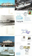 DANISH FERRY WARNEMUNDE 2 SHIPS CACHED COVERS PLAIN CARD & POSTCARDS