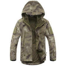 Soft Shell Men Military Outdoor Waterproof Hoody Jacket Hood Coat Windbreaker