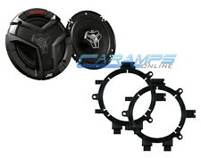 """NEW JVC 6.5"""" 2 WAY CAR TRUCK STEREO FRONT DOOR SPEAKERS WITH MOUNTING BRACKETS"""