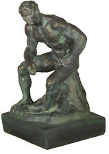 """Athlete by Rodin French Museum Sculpture Replica Reproduction 12.5"""""""