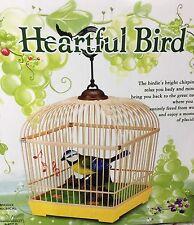 Belle électronique oiseau chantant moving chant jouet pet oiseau en cage