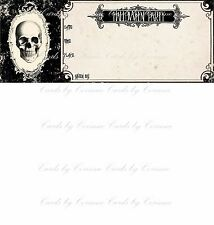 halloween party invitation skelton heavy stock paper set of 8