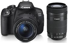 CANON EOS 700D DSLR CAMERA WITH 18-55MM+55-250MM Lens + 2yr Canon Warranty