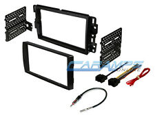 CAR STEREO DOUBLE 2 DIN RADIO DASH INSTALLATION BEZEL TRIM KIT W/ WIRING HARNESS