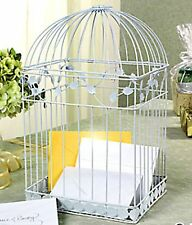 White BIRDCAGE Money CARD BOX Wedding Reception Party Anniversary Wishing Well