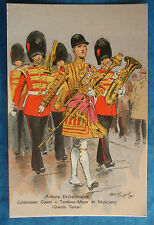 FRENCH MILITARY ARTIST MAURICE TOUSSAINT Postcard c.1940 COLDSTREAM GUARD