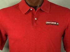 Craftsman Tools Home & Yard Center Red Polo 100% Cotton Made in USA M Medium