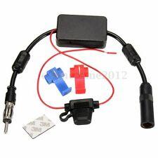 Universal Coche Auto Amplificador Cable Aéreo Antena Radio FM Booster DC12V