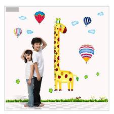 Giraffe Wandaufkleber Wandtattoo Wandsticker 72 X 26cm Aufkleber Höhenmessung