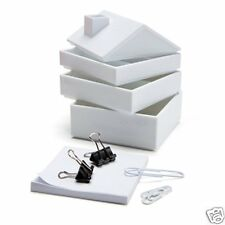IN HOUSE White Desk Office Organizer Memo Notes Paper Clips Monkey Business