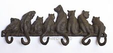 GHISA Decorativo Gatto Gattino Design appendiabiti Set Heavy Duty Hook Set Nuovo