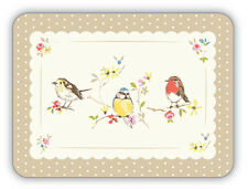 Cooksmart Dawn Chorus Bird Placemat Set of 4 Table Mat Place Retro Vintage Style