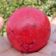 Red Turquoise Jade Ball Crystal @Sphere Healing Magical 50mm