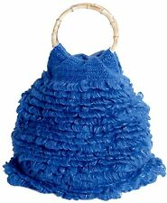 ConMiGo London B011Blue Hand Knitted Fashion Bags