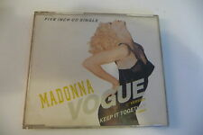 MADONNA FIVE INCH CD SINGLE VOGUE/ KEEP IT TOGETHER. BOITIER FENDU 1,5 CM.