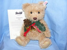 Steiff Christmas Teddy Bear Pine With Bells  NEW Limited Edition  EAN 034275