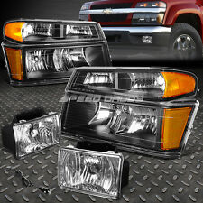 BLACK HOUSING HEADLIGHT+AMBER CORNER+CLEAR FOG LIGHT+SWITCH FOR 04-12 COLORADO