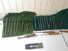 29 VINTAGE AUGER DRILL BITS, WOOD CHISELS Irwin and Mathieson and more