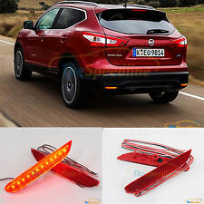 RED LED Reflector Rear Bumper Light Fits NISSAN QASHQAI 2013 2014 2015 2016