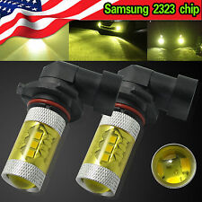 2x 9006 HB4 4300K Yellow LED Fog Light Samsung 2323 Projector DRL Driving Bulb