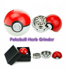 55mm Pokeball Pokemon Herb Spice Grinder Aluminum Herb Crusher Poke Ball Box Fre