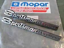 80 79 78 77 76 75 74 73 MoPar Dodge Truck Sportsman Custom Van Emblem PAIR Set